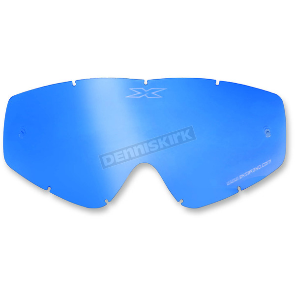 EKS Brand Blue Mirror GOX Single Pane Anti-Fog Lens - 067-40225