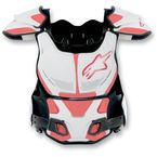 White/Red A-8 Roost Deflector - 6700012-23-S/M