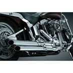 Crushed Staggered Dual Exhaust w/Chrome/Black Powercell - 559
