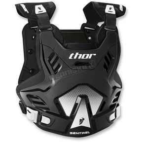 Thor Black/White Youth Sentinel GP Roost Deflector - 2701-0758