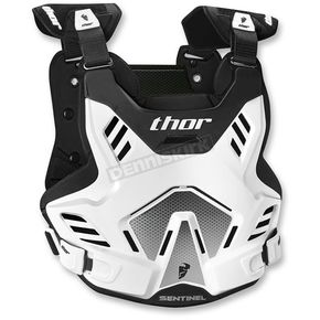 Thor White/Black Youth Sentinel GP Roost Deflector - 2701-0759