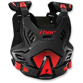 Thor Black/Red Youth Sentinel GP Roost Deflector - 2701-0761