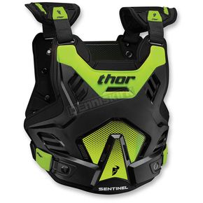Thor Black/Green Youth Sentinel GP Roost Deflector - 2701-0763