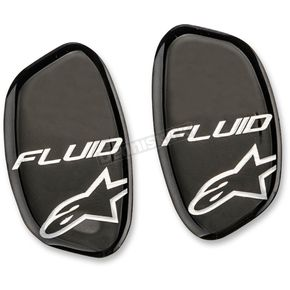 Alpinestars Black Metallic Brush Hinge Cover Stickers for Fluid Pro and Fluid Tech Knee Brace - 6952514-170