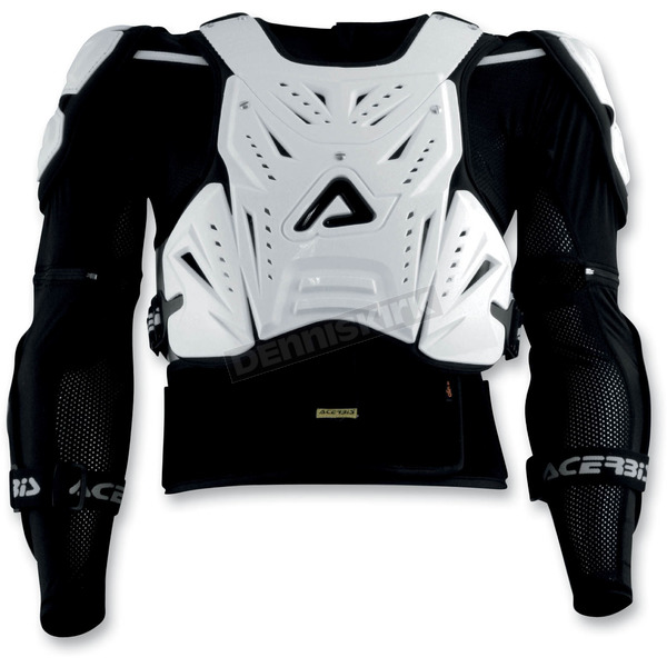 Acerbis White Cosmo Roost Deflector and Jacket - 2187680002016