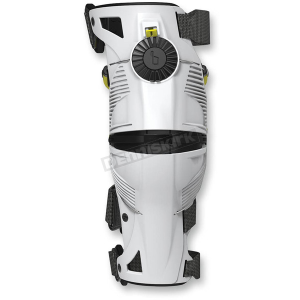 Mobius White/Acid Yellow X8 Knee Brace - 1010103