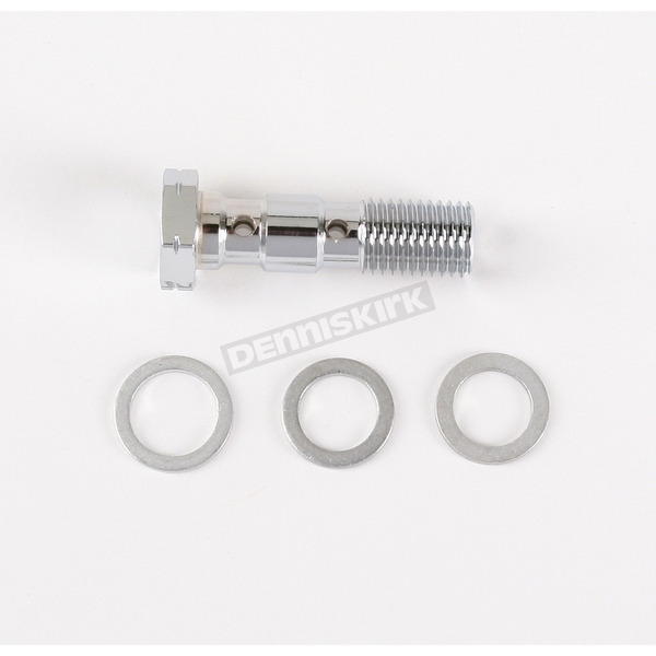 Drag Specialties 10mm-1.25 Double Banjo Bolt - 1742-0117