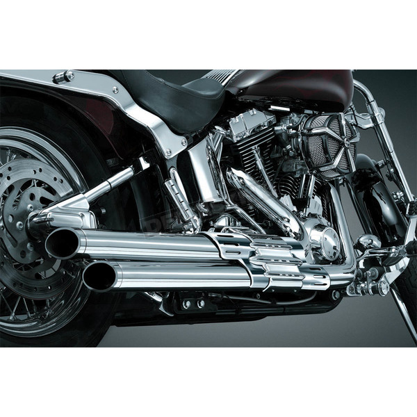 Crusher Crusher Staggered Dual Exhaust w/Chrome/Black Powercell - 559