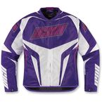 Womens Purple Hooligan Jersey Jacket - 2822-0571