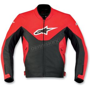Alpinestars Red Indy Leather Jacket - 310170-30-46
