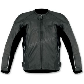Alpinestars Black TZ-1 Reload Perforated Leather Jacket - 3107512-10-48
