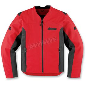 Icon Red Leather Device Jacket - 2810-2200