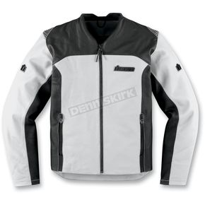 Icon White Leather Device Jacket - 2810-2215