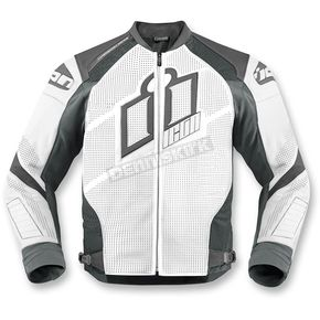 Icon White Hypersport Prime Leather Jacket - 2810-2597