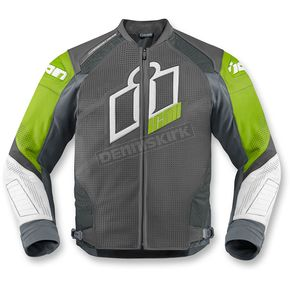 Icon Green Hypersport Prime Leather Jacket - 2810-2610