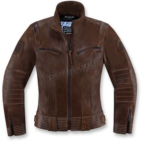 Icon 1000 Womens Brown Fairlady Jacket  - 2813-0557