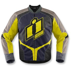 Icon Hi-Viz Yellow Overlord 2 Jacket - 2820-3101