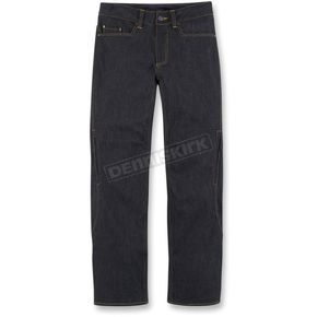 Icon Black Insulated Denim Pants - 2821-0657
