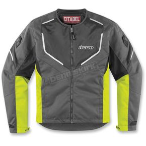 Icon Charcoal/Hi-Viz Yellow Citadel Jacket - 2822-0543