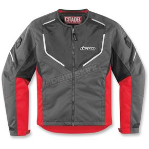 Icon Charcoal/Red Citadel Jacket - 2822-0547