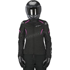 Alpinestars Womens Black/Pink Stella Gunner Waterproof Jacket - 3216815-1032-2X