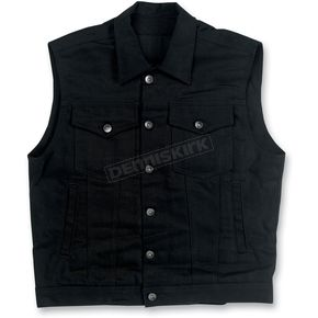 Biltwell Black Collared Prime Cut Vest - DV-BLK-CV-LRG