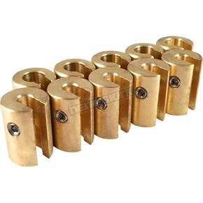 No-Mar 1 oz. Brass Spoke Wheel Weights - WT-SPK10BR-1