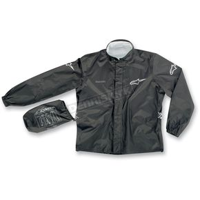Alpinestars Black Quick Seal Out Rain Jacket and Pants - 3264512-10-L