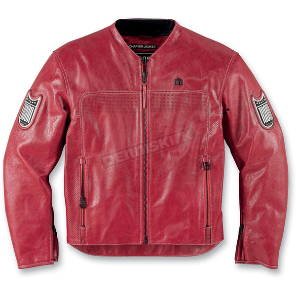 Icon Red Chapter Leather Jacket - 2810-2256