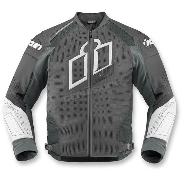 Icon Gray Hypersport Prime Leather Jacket - 2810-2591