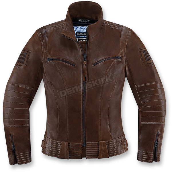 Icon 1000 Womens Brown Fairlady Jacket  - 2813-0558