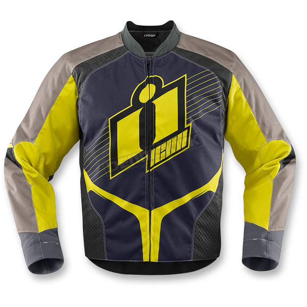 Icon Hi-Viz Yellow Overlord 2 Jacket - 2820-3103