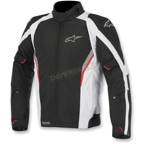 Alpinestars Black/White/Red Megaton Drystar Jacket - 3207615-123-2X