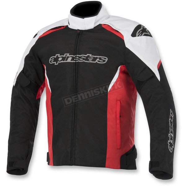 Alpinestars Black/White/Red Gunner Waterproof Jacket - 3206815-123-S