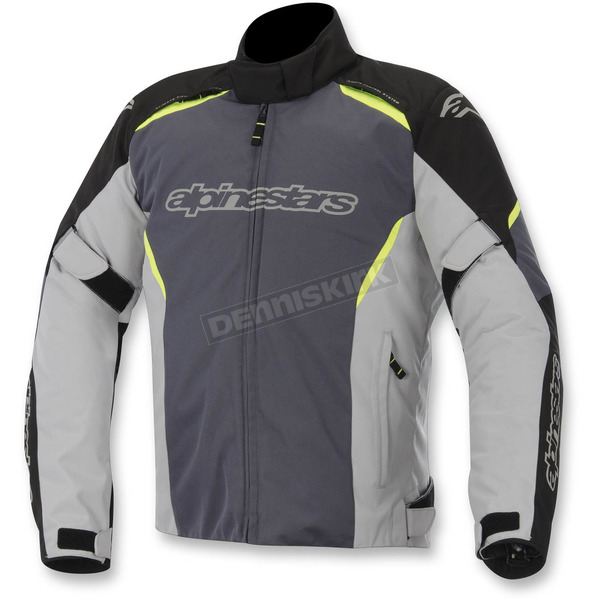 Alpinestars Black/Gray/Yellow Gunner Waterproof Jacket - 3206815-175-S