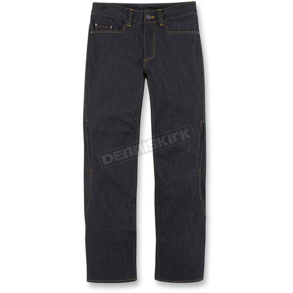 Icon Black Insulated Denim Pants - 2821-0658