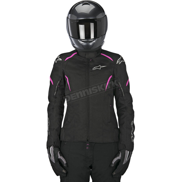 Alpinestars Womens Black/Pink Stella Gunner Waterproof Jacket - 3216815-1032-M