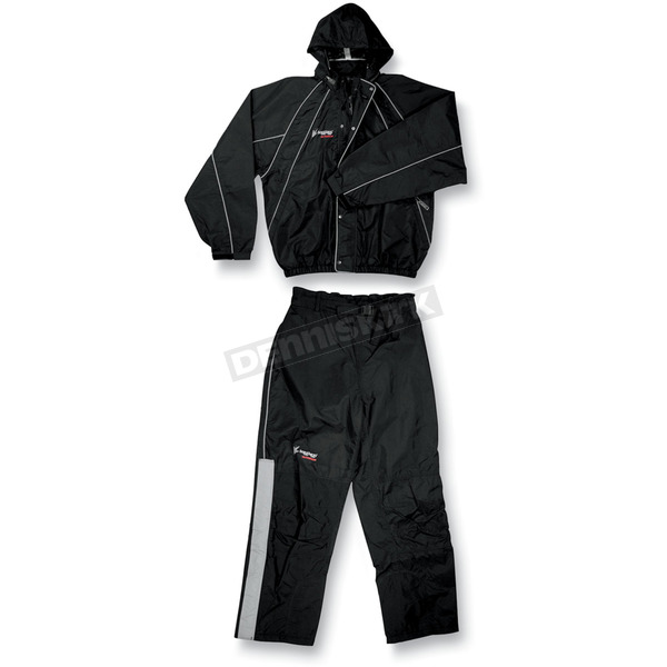 Frogg Toggs Black Toadz H-Toadz Rain Suit - NT1032201SM