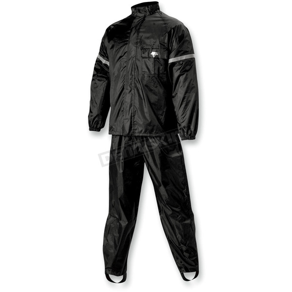 Nelson-Rigg Black WP-8000 Weather Pro Rain Suit - WP8000BLK02-MD