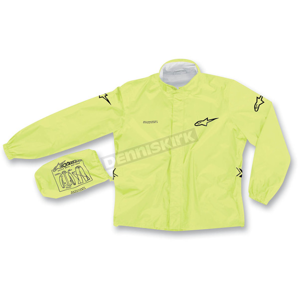 Alpinestars Fluorescent Yellow Quick Seal Out Rain Jacket and Pants - 3264512-55-S