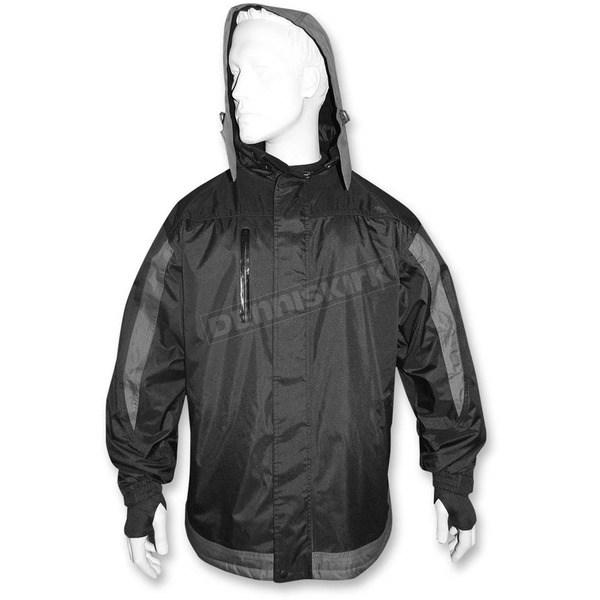 R.U. Outside Black/Gray Vortex Wind/Waterproof Jacket - JCKT-LG-VSTRM