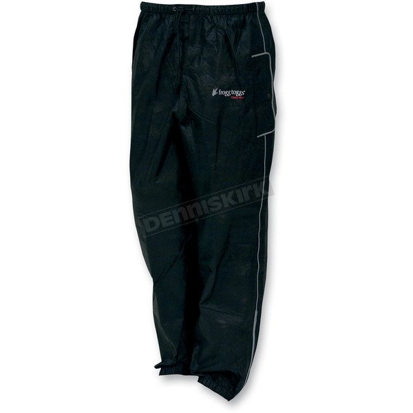 Frogg Toggs Black Road Toad Rain Pants - FT83132-01SM