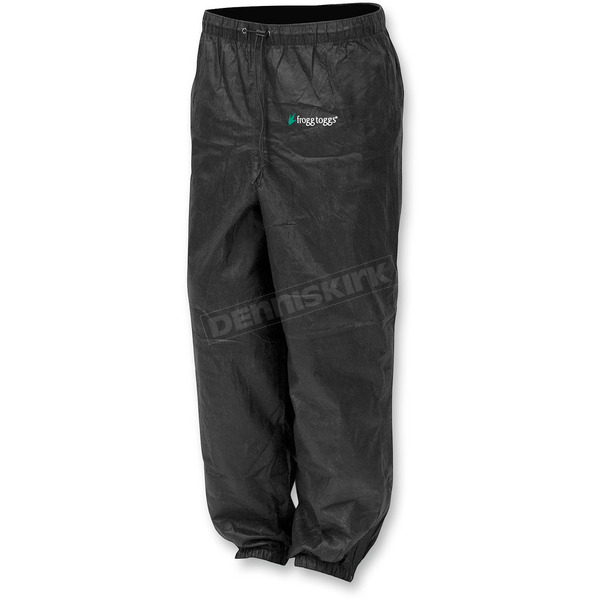 Frogg Toggs Womens Black Pro Action™ Rain Pants - PA83522-01MD