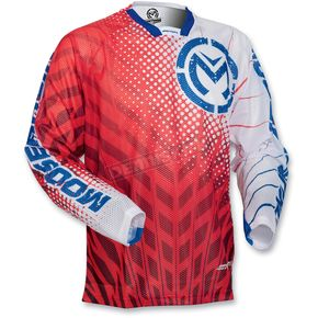 Moose Red/White/Blue Sahara Jersey - 29103062