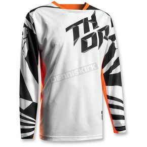 Thor Youth White/Orange Fuse Air Jersey - 2912-1372