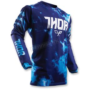 Thor Youth Blue Pulse Air Tydy Jersey  - 2912-1390