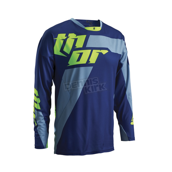 Thor Navy/Lime Core Merge Jersey - 2910-3454