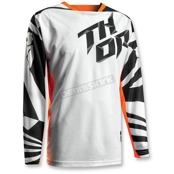 Thor White/Orange Fuse Air Jersey - 2910-3816