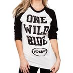 Womens Black Raglan Ride It T-Shirt - F444S19100BKL