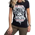Womens Black Troublemaker T-Shirt - M157S18100BLKXL